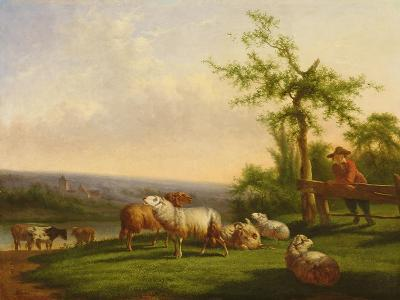 Pastoral Landscape with a Herd-Balthasar Paul Ommeganck-Giclee Print