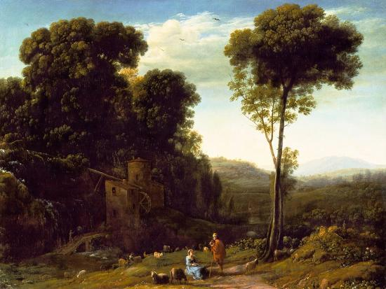 Pastoral Landscape with a Mill, 1634-Claude Lorraine-Giclee Print