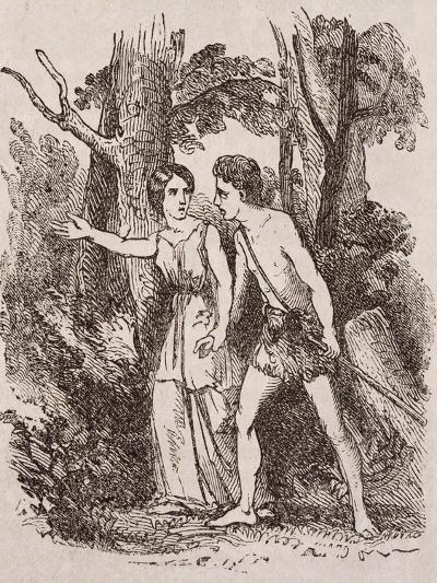 Pastoral Loves of Daphnis and Chloe, Novel by Longo Sophista--Giclee Print