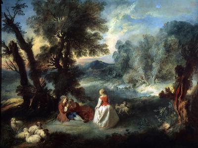 Pastoral Scene, 1730S-Pierre-Antoine Quillard-Giclee Print