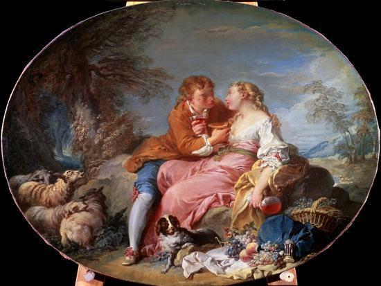 Pastoral Scene, 1740-Fran?ois Boucher-Giclee Print