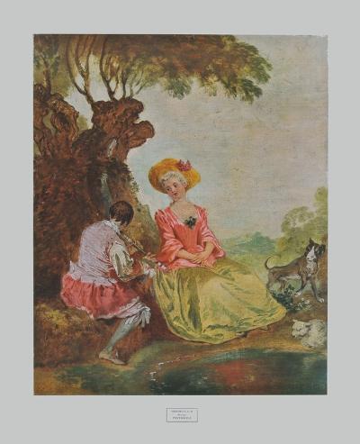 Pastoral-Antoine Watteau-Collectable Print