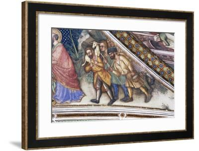 Pastors, Detail from Fresco Cycle Stories of Virgin-Ottaviano Nelli-Framed Giclee Print