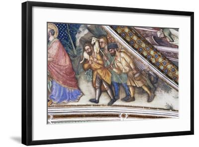 Pastors, Detail from Fresco Cycle Stories of Virgin-Ottaviano Nelli-Framed Giclee Print