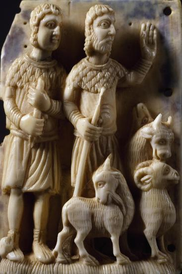 Pastors, Ivory Figures. Germany, 12th Century--Giclee Print