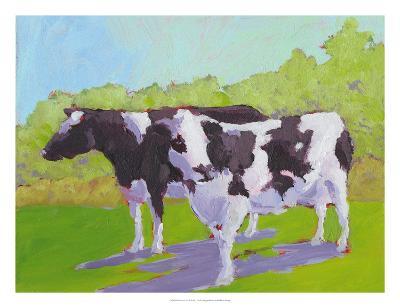 Pasture Cows II-Carol Young-Art Print