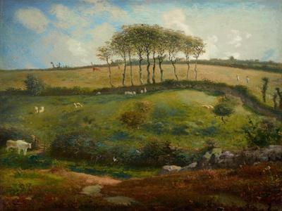 Pasture Near Cherbourg (Normandy), 1871-2-Jean-Francois Millet-Giclee Print