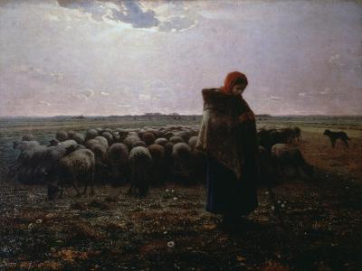 Pasture-Jean-Fran?ois Millet-Giclee Print