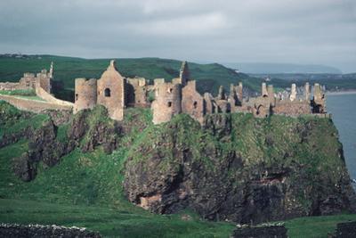 Dunluce Castle on Cliff, Northern Ireland