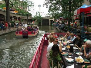 Lunch Cruise Along River Walk, San Antonio, TX by Pat Canova
