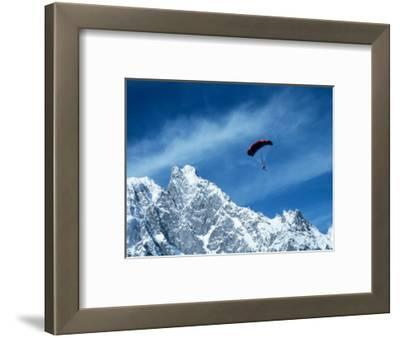 Para-Skier, Mt. Blanc, Italy, France