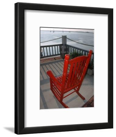 Rocking Chair Overlooking Fernardina Harbor, FL
