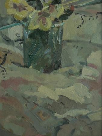 Yellow Flowers in Green Pot, 2009