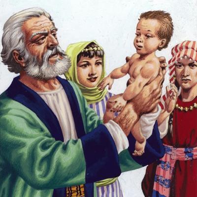 Abram Admiring Ishmael, the Son of Hagar