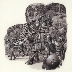 Armoured Chinese Army Elephant by Pat Nicolle