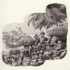 Castle Built by European Traders in West Africa by Pat Nicolle