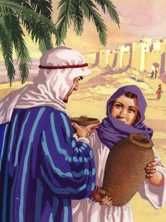 Eliezer Meeting Rebekah by the Well