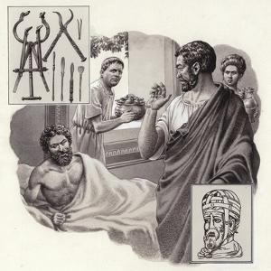 Galen the Physician Risks His Life Telling a Roman Emperor He Has Been Over-Eating by Pat Nicolle