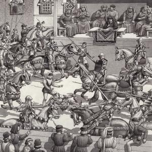 Jousting in Florence in the 15th Century by Pat Nicolle