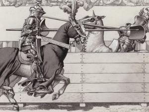Jousting Knights by Pat Nicolle