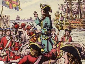 King William III Landing at Carrickfergus by Pat Nicolle