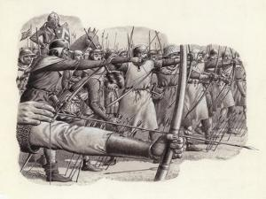 Longbowmen at the Battle of Falkirk by Pat Nicolle