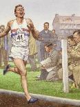 Roger Bannister Running the First Four-Minute Mile-Pat Nicolle-Framed Giclee Print