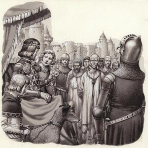 Six Brave Burghers of Calais About to Be Executed by Pat Nicolle