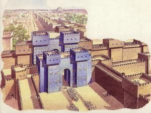 The Ishtar Gate of Babylon by Pat Nicolle
