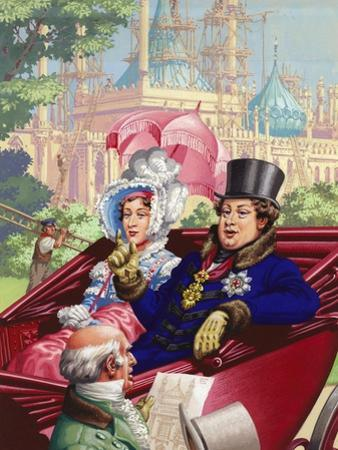 The Prince Regent Visits the Royal Pavilion at Brighton