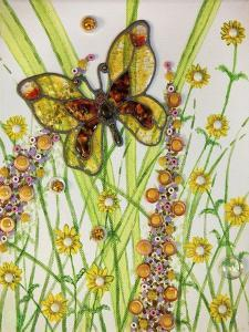 Butterflies, Yellow and Brown, 2016 by Pat Scott