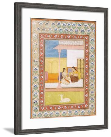Patamanjari Ragini, the Fourth Wife of Bhairava Raga--Framed Art Print