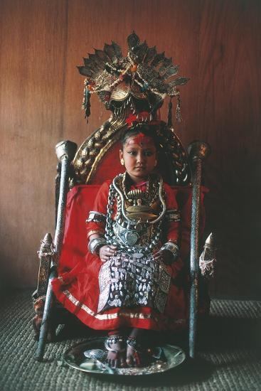 Patan, Kumari Princess, Katmandu Valley--Photographic Print