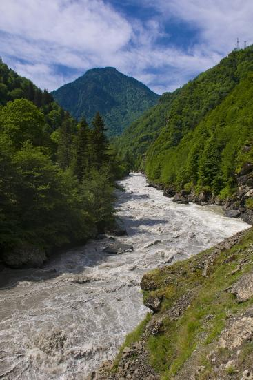 Patara Enguri River in Samegrelo-Zemo Svaneti Region, Georgia-Michael Runkel-Photographic Print