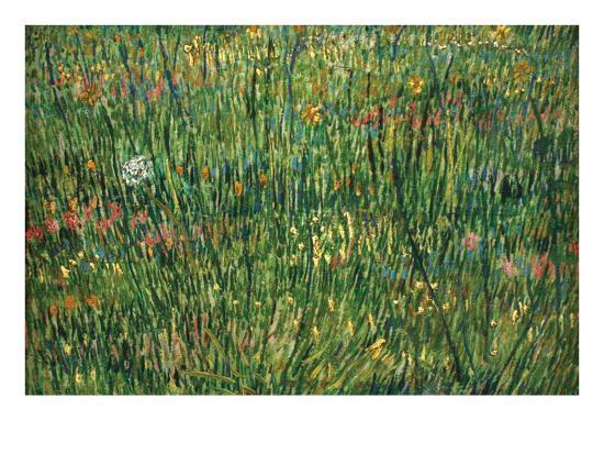 Patch of Grass by Van Gogh-Vincent van Gogh-Art Print