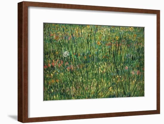 Patch of Grass by Van Gogh-Vincent van Gogh-Framed Art Print