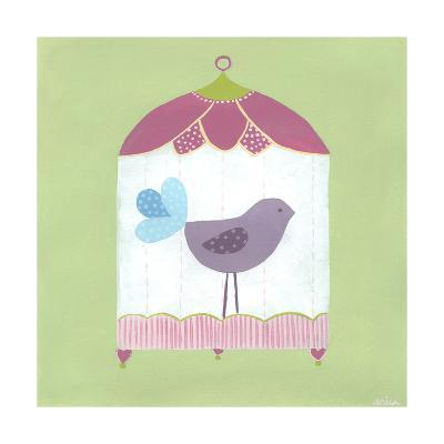 Patchwork Birdcage I-June Erica Vess-Art Print