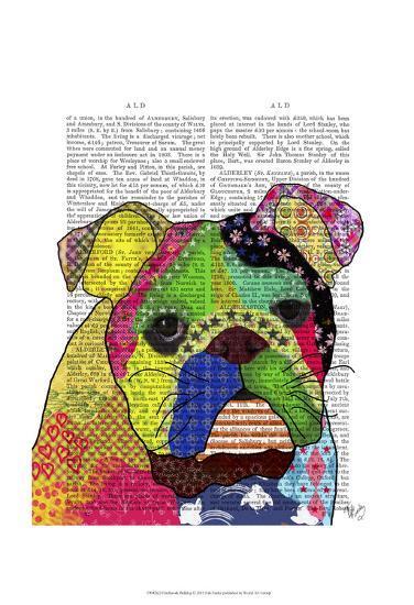 Patchwork Bulldog-Fab Funky-Art Print