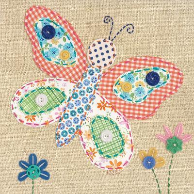 Patchwork Butterfly-Paula Joerling-Art Print