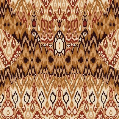 Patchwork Ethnic Bohemian Arabesque Pattern Print. Seamless Zigzag Geometric Ornament Abstract Back-Cosveta-Art Print