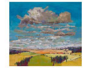 Patchwork Fields&Summer Clouds