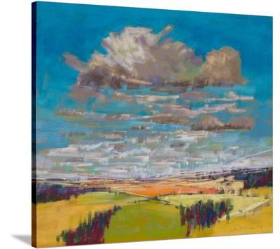 Patchwork Fields&Summer Clouds--Stretched Canvas Print