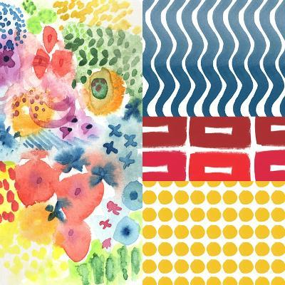 Patchwork I-Linda Woods-Art Print
