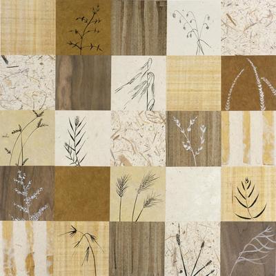 Patchwork of Leaves I-Julieann Johnson-Premium Giclee Print
