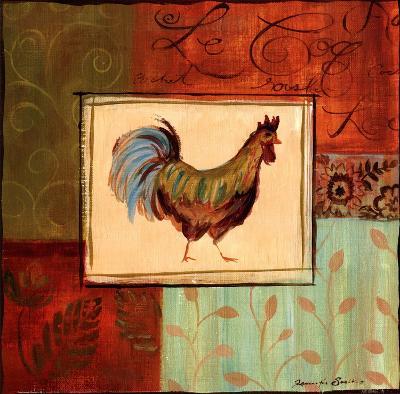 Patchwork Rooster IV-Jennifer Sosik-Art Print