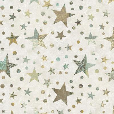 Patchwork Star Pattern - Square-Lebens Art-Art Print