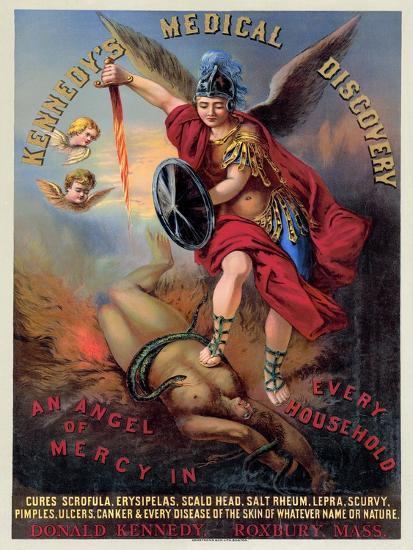 Patent Medicine Poster--Giclee Print