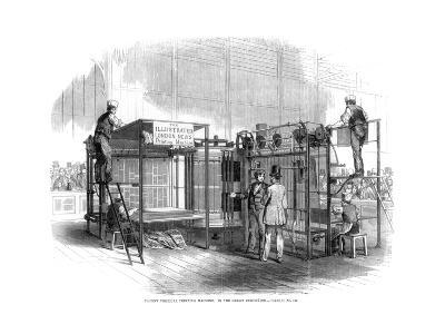 Patent Vertical Printing Machine, Great Exhibition, London, 1851--Giclee Print