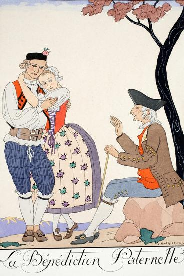 Paternal Blessing-Georges Barbier-Giclee Print