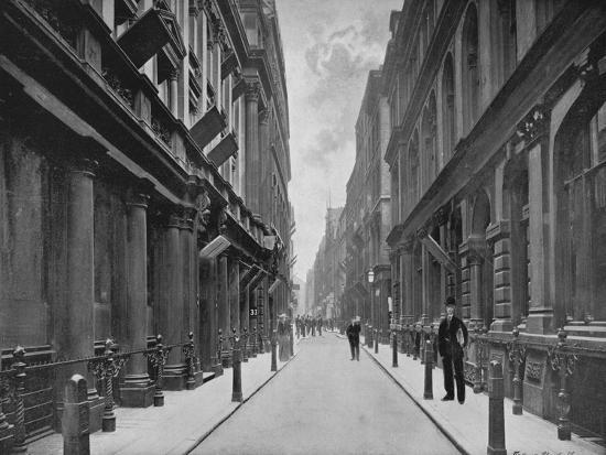 Paternoster Row, City of London, 1911-Unknown-Giclee Print